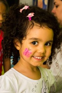 Toddler with Painted Face