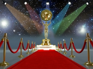 Red carpet and Oscar statue