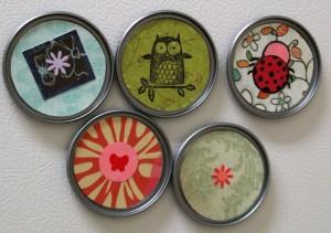Photo of handmade lid magnets