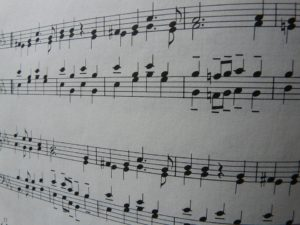 Photograph of musical score