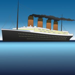 Drawing of the Titanic