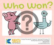 Pigeon and Piggie with a question mark