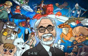 Drawing of Miyazaki
