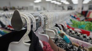 Thrift store rack