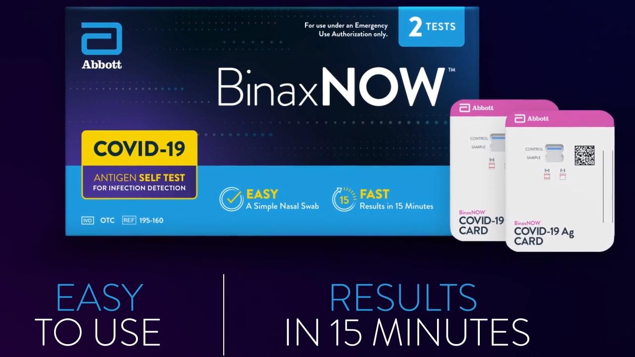 BinaxNOW box